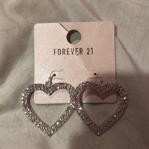 Forever 21 Heart Earrings